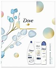 Düfte, Parfümerie und Kosmetik Körperpflegeset - Dove Nourishing Beauty Gift Set (Duschgel 250ml + Körperlotion 250ml + Deospray 150ml)