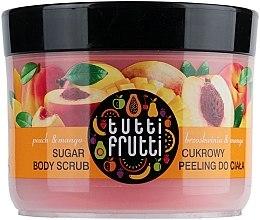 "Körperpeeling mit Zucker ""Pfirsich & Mango"" - Farmona Tutti Frutti Sugar Scrub — Bild N4"
