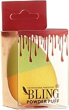 Düfte, Parfümerie und Kosmetik Make-up Schwamm gelb-grün - Bling Powder Puff
