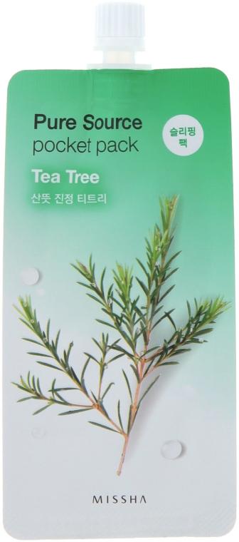 Gesichtsmaske mit Teebaum-Extrakt - Missha Pure Source Pocket Pack Tea Tree — Bild N1