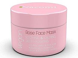 Düfte, Parfümerie und Kosmetik Beruhigende Gesichtsmaske mit Rosenwasser und Aloe Vera - Nacomi Rose Face Mask