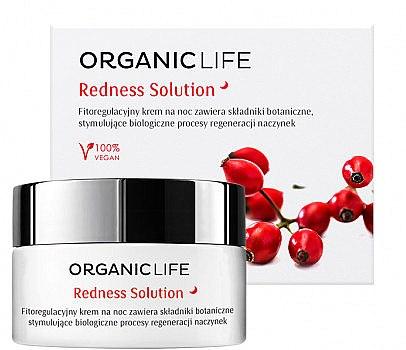 Regenerierende und beruhigende Nachtcreme für Kapillarhaut - Organic Life Dermocosmetics Redness Solution Night Cream — Bild N1