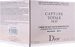 Düfte, Parfümerie und Kosmetik Intensiv regenerierende Nachtpflege für Gesicht und Hals - Dior Capture Totale Nuit (Refill)