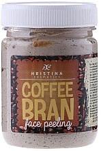 Düfte, Parfümerie und Kosmetik Gesichtspeeling mit Koffein - Hristina Cosmetics Coffee Bran Face Peeling