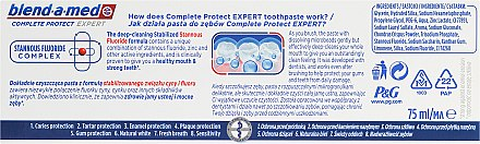 Zahnpasta Complete Protect Expert Strong Teeth - Blend-a-med Complete Protect Expert Strong Teeth Toothpaste — Bild N3