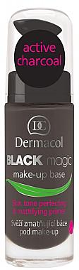 Entgiftende und mattierende Make-up Base mit Aktivkohle - Dermacol Black Magic Makeup Primer — Bild N1