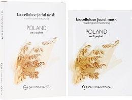 Düfte, Parfümerie und Kosmetik Feuchtigkeitsspendende und pflegende Tuchmaske für das Gesicht Polen - Calluna Medica Poland Nourishing And Moisturizing Biocellulose Facial Mask