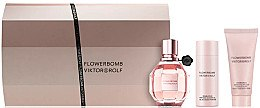 Düfte, Parfümerie und Kosmetik Viktor & Rolf Flowerbomb - Duftset (Eau de Parfum/50ml + Körpercreme/40ml + Duschgel/50ml)