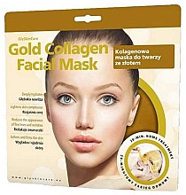 Düfte, Parfümerie und Kosmetik Kollagen-Gesichtsmaske mit Gold gegen Falten - GlySkinCare Gold Collagen Facial Mask