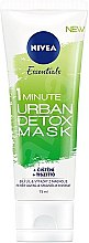 Düfte, Parfümerie und Kosmetik 1-minütige mattierende und reinigende Gesichtsmaske - Nivea Daily Essentials 1 Minute Urban Detox Mask