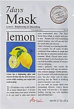 Düfte, Parfümerie und Kosmetik Aufhellende und glättende Gesichtsmaske mit Zitrone - Ariul 7 Days Mask Lemon