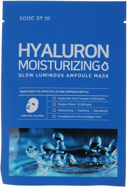 Feuchtigkeitsspendende und beruhigende Tuchmaske für das Gesicht mit Hyaluronsäure - Some By Mi Hyaluron Moisturizing Glow Luminous Ampoule Mask — Bild N1