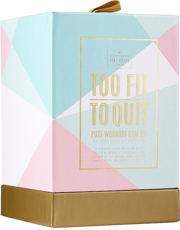Körperpflegeset - The Scottish Fine Soaps Company To Fit To Quit (Duschgel 75ml + Shampoo 75ml + Körpercreme 75ml + Haarband) — Bild N1