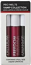 Düfte, Parfümerie und Kosmetik Flüssiger Lippenstift 3 St. - Freedom Makeup London Pro Melts Vamp Collecion