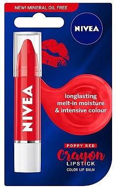 Lippenbalsam - Nivea Poppy Red Crayon Lipstick — Bild N1