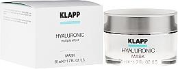 Düfte, Parfümerie und Kosmetik Feuchtigkeitsspendende Gesichtsmaske mit Hyaluronsäure - Klapp Hyaluronic Mask