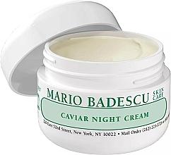 Düfte, Parfümerie und Kosmetik Luxuriöse Nachtcreme mit Kaviarextrakt - Mario Badescu Caviar Night Cream