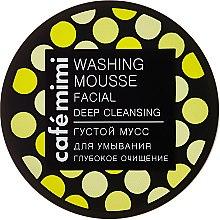 Düfte, Parfümerie und Kosmetik Tiefenreinigende Gesichtswaschcreme für trockene und empfindliche Haut - Cafe Mimi Washing Mousse Facial Deep Cleaning