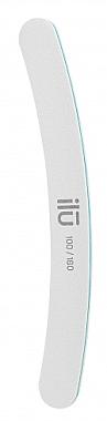 Doppelseitige Nagelfeile Banane 100/180 - Ilu White Banana File Grid 100/180 — Bild N1