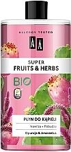 Düfte, Parfümerie und Kosmetik Feuchtigkeitsspendendes und stimulierendes Schaumbad mit Kaktusfeige und Amaranth - AA Super Fruits & Herbs Bath Foam