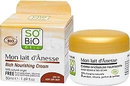 Düfte, Parfümerie und Kosmetik Schonende Gesichtspflege für optimale Ernährung und Schutz - So'Bio Etic Mon Lait d'Anesse Rich Nourishing Cream
