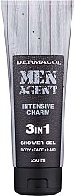 Düfte, Parfümerie und Kosmetik Körper, Gesicht und Haar Duschgel für Männer 3in1 - Dermacol Men Agent Intensive Charm 3in1 Shower Gel