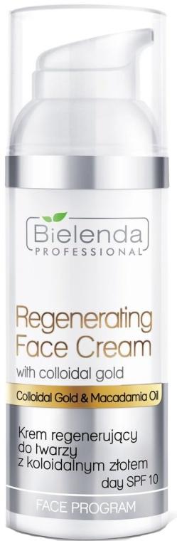Regenerierende Gesichtscreme mit kolloidalem Gold SPF 10 - Bielenda Professional Regenerating Face Cream — Bild N1