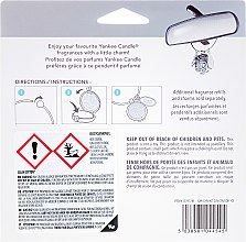 Autoduftanhänger - Yankee Candle Clean Cotton Square Charming Scents Starter Kit (Medaillon + Duftstein + Charm-Anhänger + Band) — Bild N2