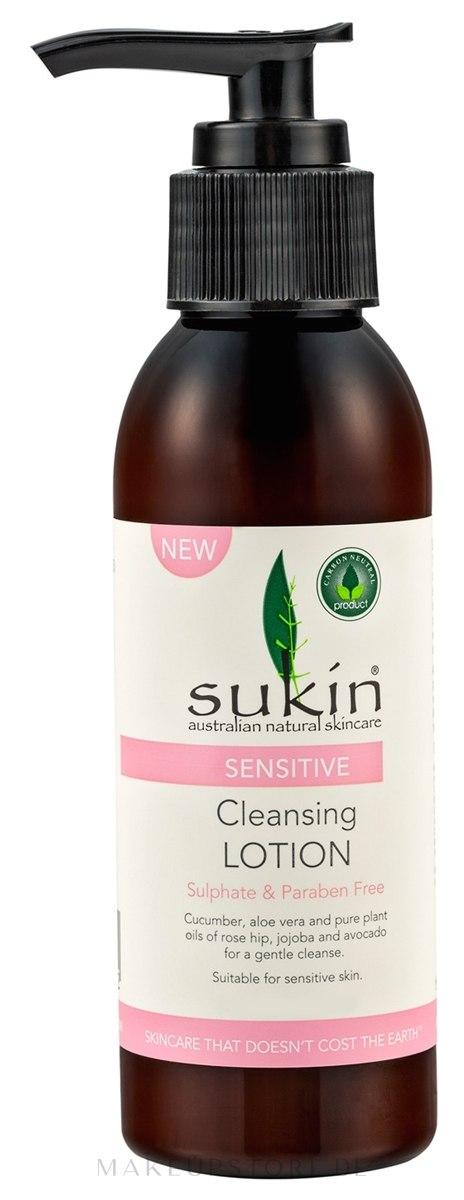 Gesichtsreinigungslotion - Sukin Sensitive Cleansing Lotion — Bild 125 ml