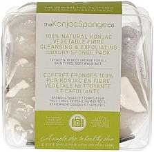 Düfte, Parfümerie und Kosmetik Reiseset - The Konjac Sponge Company Travel/Gift Sponge Bag Duo Pack 100% Pure ( Konjac-Gesichtsschwamm 1 St. + Konjac-Körperschwamm 1 St.)