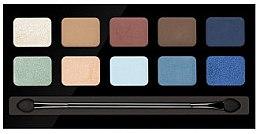 Düfte, Parfümerie und Kosmetik Lidschattenpalette mit 10 Farben - Pierre Rene Palette Match System Eyeshadow End Of The Summer