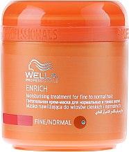Düfte, Parfümerie und Kosmetik Pflegende und feuchtigkeitsspendende Maske für dünnes und normales Haar - Wella Professionals Enrich Moisturizing Treatment