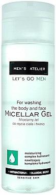 Feuchtigkeitsspendendes Mizellengel für Körper und Gesicht - Hean Men's Atelier Micellar Gel — Bild N1