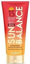 Düfte, Parfümerie und Kosmetik Wasserfste Sonnenschutzemulsion SPF 15 - Farmona Sun Balance Lotion SPF15