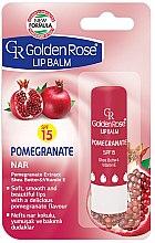 Düfte, Parfümerie und Kosmetik Lippenbalsam - Golden Rose Lip Balm Pomegranate SPF15