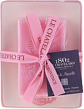 Düfte, Parfümerie und Kosmetik Natürliche Rosenseife mit keramischer Seifenschale - Le Chatelard Rose Soap