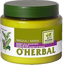 Düfte, Parfümerie und Kosmetik Beruhigende Haarmaske mit Lakritzextrakt für empfindliche Kopfhaut - O'Herbal