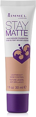 Mattierende Foundation - Rimmel Stay Matte Liquid Mousse Foundation  — Bild N1