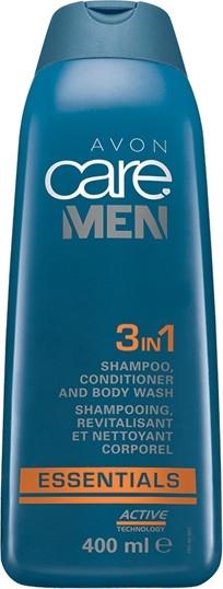 3 in 1 Shampoo, Conditioner und Duschgel für Männer - Avon Care Man Essentials Shampoo Conditioner And Body Wash — Bild N1