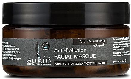 Gesichtsmaske gegen unreine Haut mit Aktivkohle - Sukin Oil Balancing + Charcoal Anti-Pollution Facial Masque — Bild N1
