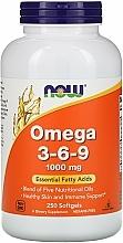 Nahrungsergänzungsmittel Omega 3-6-9 1000 mg für schöne Haut und Immunität - Now Foods Omega 3-6-9 — Bild N1