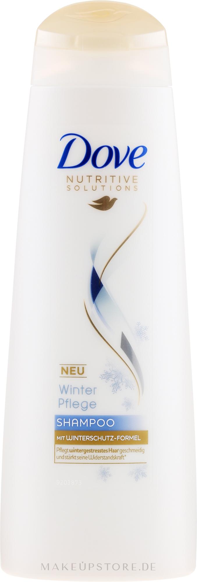 Stärkendes Pflegeshampoo mit Winterschutz-Formel für mehr Glanz und Geschmeidigkeit - Dove Limited Edition Winterpflege Shampoo — Bild 250 ml