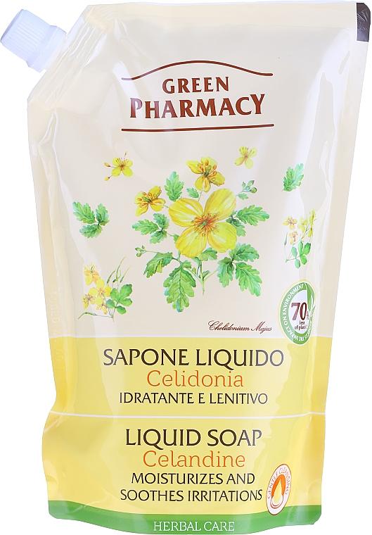 Flüssige Handseife mit Schöllkraut - Green Pharmacy Celandine Liquid Soap (Doypack) — Bild N3