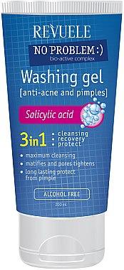 3in1 Gesichtswaschgel mit Salicylsäure gegen Akne - Revuele No Problem Washing Gel — Bild N1