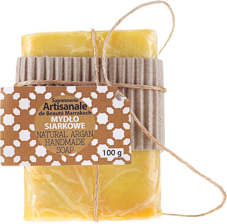 Handgemachte natürliche Schwefelseife mit Arganöl - Beaute Marrakech Natural Argan Handmade Soap — Bild N1