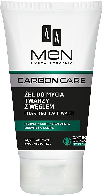 Gesichtsreinigungsgel mit Aktivkohle - AA Men Carbon Care Charcoal Face Wash — Bild N1