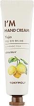 Düfte, Parfümerie und Kosmetik Pflegende Handcreme mit Yuzu und Arganöl - Tony Moly I'm Hand Cream Yuja