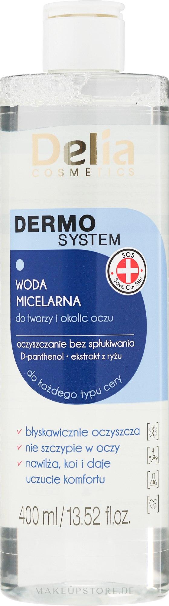 Mizellenwasser für Gesicht und Augen - Delia Dermo System Micellar Makeup Remover — Bild 200 ml