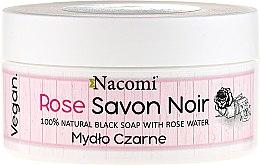 Düfte, Parfümerie und Kosmetik Natürliche schwarze Seife mit Rosenwasser - Nacomi Savon Noir Natural Black Soap with Rose Water