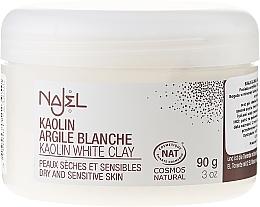 Düfte, Parfümerie und Kosmetik Kosmetische weiße Tonerde für das Gesicht - Najel Clay In Powder White